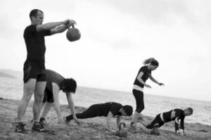 Beach training, Falmouth